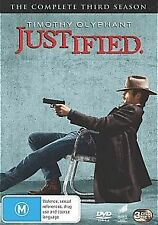 JUSTIFIED THE COMPLETE THIRD SEASON DVD RATED M BRAND NEW SEALED