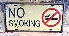 NO SMOKING Warning Sign Decorative CAR PLATE Retro Tin Metal Signs