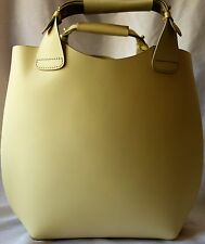EX Zara leather Bucket hagbag Limone NUOVO RRP £ 60