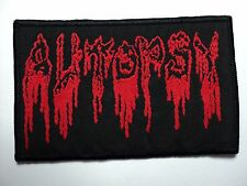 AUTOPSY  RED LOGO WOVEN  PATCH