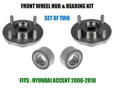 Fits:Hyundai Accent Front Wheel Hub And Bearing Kit Assy 2000-2010  SET OF TWO
