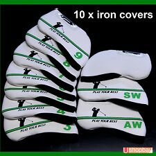 10 X Golf Iron Covers For All-Brand Ping Callaway Titleist match your Golf Bag