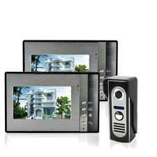 "7"" Wired Video Door Bell Phone Doorbell CCTV Home Security Camera Night Vision"