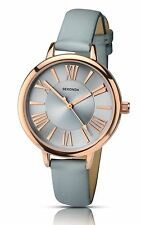 Sekonda Summertime Editions Ladies Grey Roman Numerals Watch Rose Gold Tone 2356