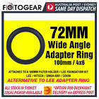 72mm Wide Angle Adapter Ring Metal LEE FORMATT COKIN SINGH-RAY NISI 100mm 4x6