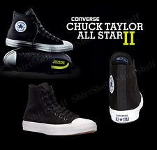 Converse The Chuck Taylor All Star II Black Canvas Hi Top Sz 7 Shoes 150143C