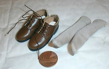 HobbyMaster USAF pilot brown shoes with socks 1/6th scale