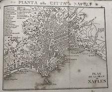 Antica Stampa Topografica.ARTARIA = PIANTA DELLA CITTA DI NAPOLI = NEL1840..