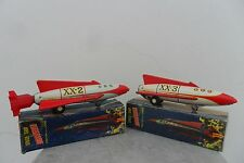 Rare Pair Discoverer Space Ship by Nomura & Alps Toys Made in Japan 1960's Box