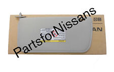 GENUINE NISSAN FRONTIER XTERRA 2002-2004 GREY CLOTH LH SUNVISOR KIT