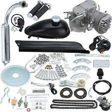 80cc Bike 2 Stroke Gas Engine Motor Kit DIY Motorized Bicycle Silver