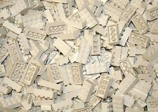 200 Generic White 2x4 bricks Building blocks +1 genuine Lego pc