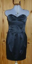 MISS SELFRIDGE Black strapless short party prom cocktail dress 10 BNWT