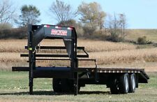 2014 NEW! 25' LOW PRO TANDEM DUAL FLATBED EQUIPMENT TRAILER-22,400#, 3 RAMP, LED