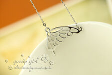 Stunning 18K White Gold Filled Filigree Butterfly Pendant Necklace Free Shipping