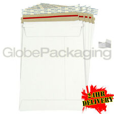 100 x Strong C5 / A5 Size ALL BOARD White Postal Envelopes 229x162mm *OFFER*