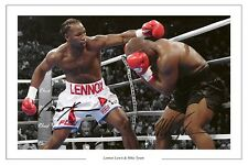 LENNOX LEWIS & MIKE TYSON AUTOGRAPHED SIGNED A4 PP POSTER PHOTO