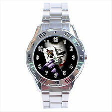 NEW* HOT BATMAN THE JOKER Stainless Steel Analogue Wrist Watch Gift D01
