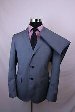 Men's JOHN VARVATOS Suit 3/2 Roll Cotton Blend Charcoal Gray Striped 42R 34 x 32