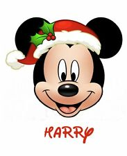 DISNEY**MICKEY**MINNIE MOUSE CHRISTMAS***PERSONALIZED SHIRT IRON ON TRANSFER