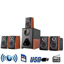 BEFREE SOUND 5.1ch BLUETOOTH WIRELESS POWERED SPEAKER SYSTEM USB MP3 PLAYER FM