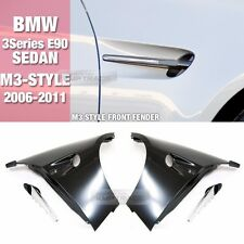 M3 Style Front Fender With LED Air Vent Lamp For BMW 06-11 3 Series E90 SEDAN