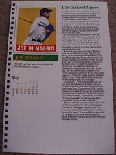 Joe DiMaggio 1987 Baseball Card Engagement Book w/ 1948 Leaf Gum