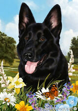 Large Indoor/Outdoor Summer Flag - Black German Shepherd 18091
