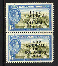 BAHAMAS 1942 6d WITH 'COIUMBUS' VARIETY SG 169a MINT.