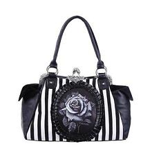 BLACK ROSE CAMEO BAG (Black)  by RESTYLE