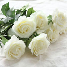 wedding silk flowers arrangements fabric rose floral heads for home decoration