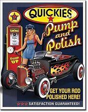 Quickies Pump & Polish metal sign    (de)