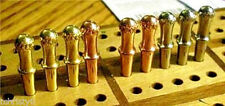 "9- Metal Cribbage Pegs ""Irish Crown-Top"" Pegs For For 3/32"", USA + Velvet Pouch"