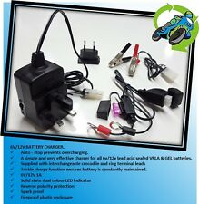 New Biketek 6v 12v Motorcycle Battery Charger With Auto Cut-Off Fits Honda