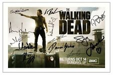 THE WALKING DEAD CAST AUTOGRAPH SIGNED PHOTO PRINT SEASON 3 4