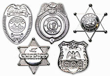 U.S. POLICE Set of FIVE COP SHIELDS - Sheriff, NYPD etc -  IDEAL PARTY SUPPLIES