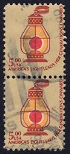 USA 1979 $5 Railroad Conductor's Lantern Sc#1612 USED pair @S3998