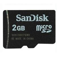 100 x 2GB SanDisk MicroSD SD Memory Card SDSDQ-2048