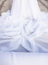 "PURE OPTICAL WHITE 100% POLYESTER CHIFFON FABRIC  58"" WIDE BY THE YARD"