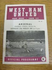 27/03/1965 West Ham United V Arsenale (piegati, Piegato, piccoli colpi, luce marki
