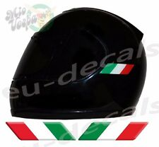 Helmet Italy Italian Flags 3D Decals Set Left and Right sticker set motorcycle