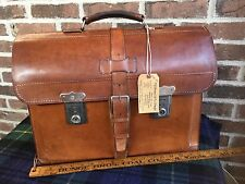 RARE VINTAGE 1950's COGNAC FRENCH SADDLE LEATHER BRIEFCASE BAG R$1295