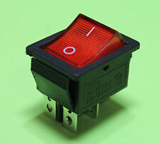 Red Light On off AC Rocker Switch 250V 15 AMP 125V 20A DPST 4 lug terminals USA