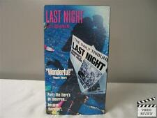 Last Night VHS Don McKellar, Sandrah Oh, Sarah Polley, David Cronenberg