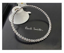 18K White Gold Plated Choker Necklace made with Swarovski Crystals