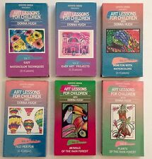 Homeschool Art Lessons For Children Vol 1-6 Watercolor Oil Pastels VHS Video Lot
