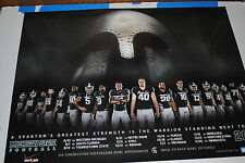 2013 Michigan State Spartans football poster MSU Dantonio 2014 ROSE BOWL Champs