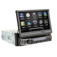 "Universal Auto DVD Lettore Stereo 7"" 1Din GPS Navi Scheda SD USB RDS BT toccare"