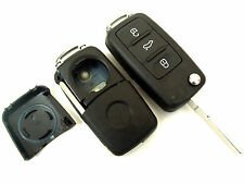 VW Sharan Touran 3 Button Flip Remote Key Fob Case (Blank HAA Blade)