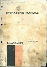CLAYSON 140 COMBINE OPERATORS MANUAL - GTC1B **ORIGINAL**